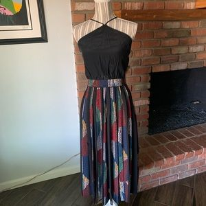 Cinq a Sept Laurent Pleated Crepe Midi Dress Sz 2